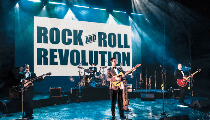 The Bluejays touring the UK in Rock and Roll Revolution
