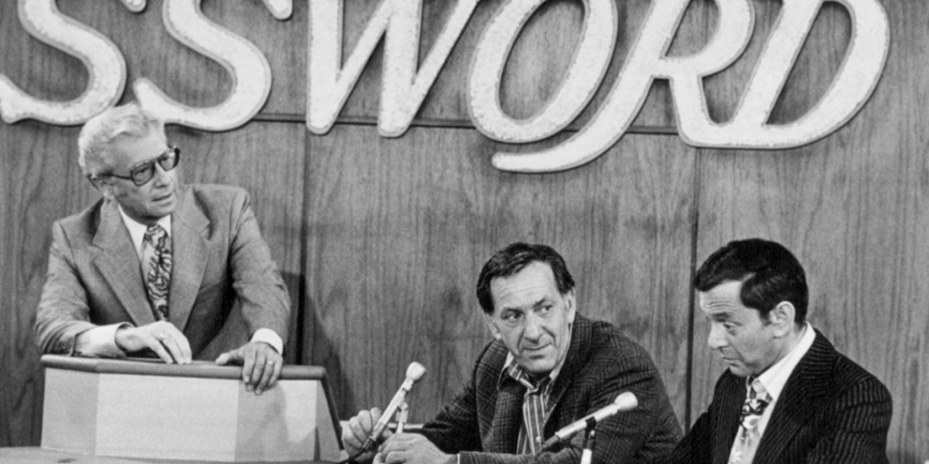 Photo of Allen Ludden, Jack Klugman as Oscar and Tony Randall