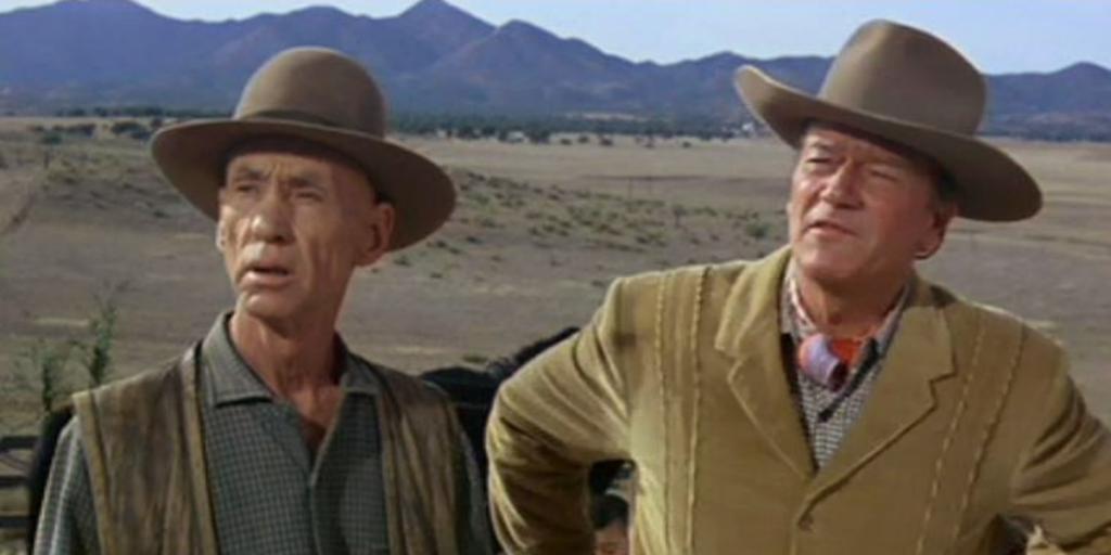 Hank Worden and John Wayne